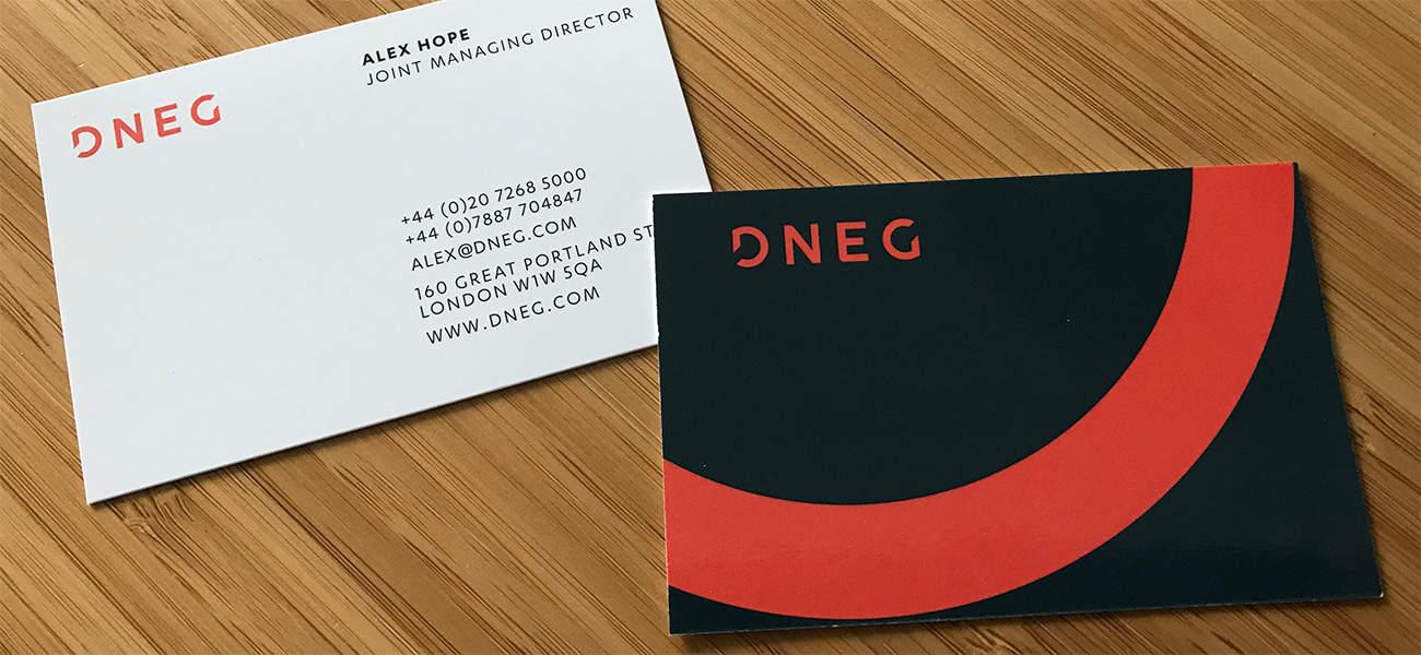 dneg business cards